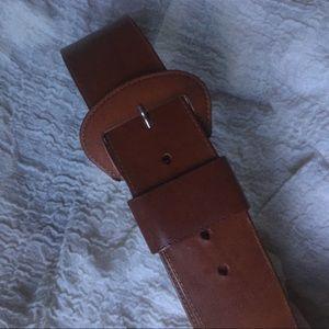 VINTAGE wide leather belt